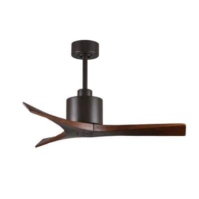 Mollywood 42 in. Textured Bronze Ceiling Fan with Hand Held Remote and Wall Control