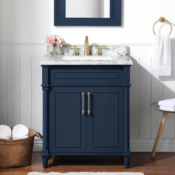 D Bath Vanity In Midnight Blue, Home Decorators Collection Bathroom Vanity
