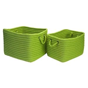 Modern Mudroom Polypropylene Storage in Apple Green (Set of 2)