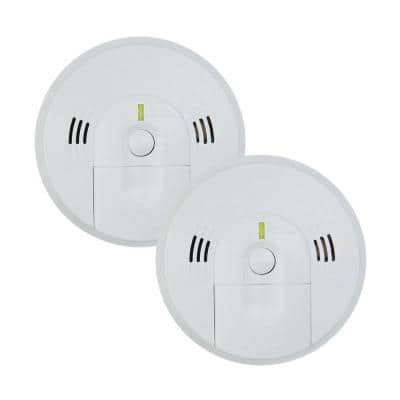 Firex Battery Operated Combination Smoke and Carbon Monoxide Detector with Ionization Sensor and Voice Alarm (2-Pack)