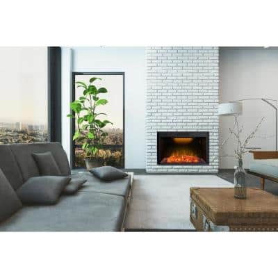 42 in. Electric Fireplace Insert in Black