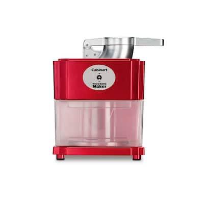 90 W 20 oz. Red Countertop Snow Cone Machine