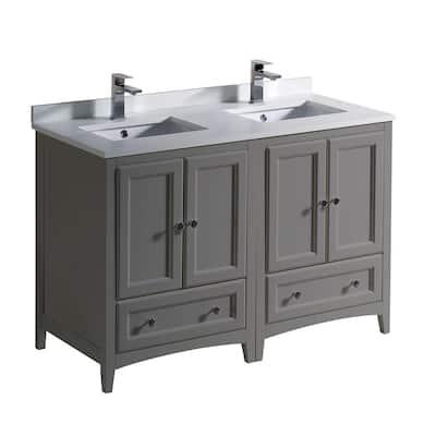 48 Inch Vanities Double Sink Bathroom Vanities Bath The Home Depot