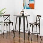 Rustic Steel Square Bar Table and Bar Stool Set
