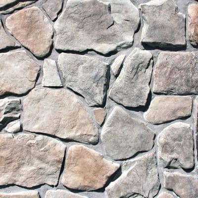 Easy Stack 1.5 in. to 4 in. x 5 in. to 9 in. Gray Hill Mortared on Concrete Field Stone Flat Stone 150 sq. ft. Crated