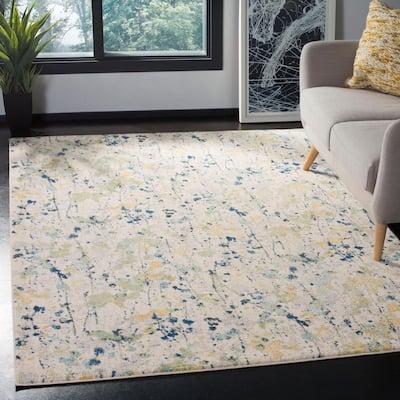 Evoke Ivory/Yellow 9 ft. x 12 ft. Abstract Area Rug