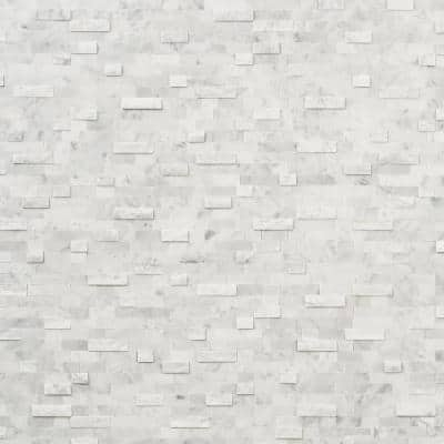 Luxe Core Brick White 10.82 in. x 11.8 in. Marble Peel and Stick Tile (0.88 Sq. Ft. / Sheet)