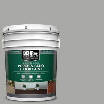 5 gal. #PFC-68 Silver Gray Low-Lustre Enamel Interior/Exterior Porch and Patio Floor Paint