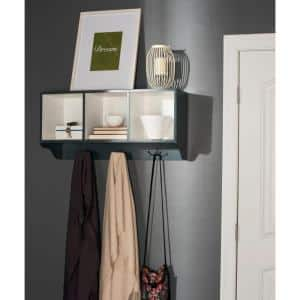 Alice Ashy Gray and White Wall Mounted Coat Rack