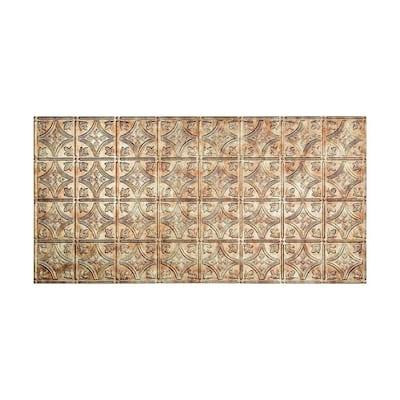 Traditional #1 2 ft. x 4 ft. Glue Up Vinyl Ceiling Tile in Bermuda Bronze (40 sq. ft.)