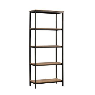 North Avenue 56.772 in. Sindoori Mango Engineered Wood 5-Shelf Accent Bookcase
