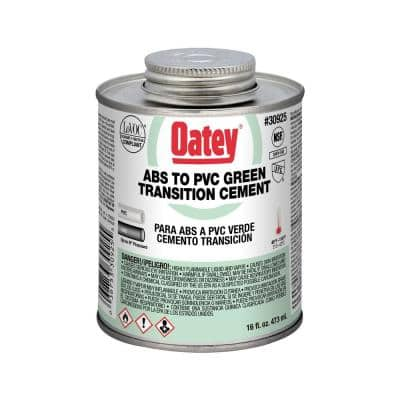16 oz. Green Transition ABS to PVC Cement