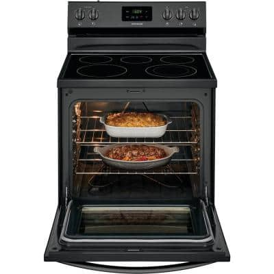 30 in. 5.3 cu. ft. Electric Range with Manual Clean in Black