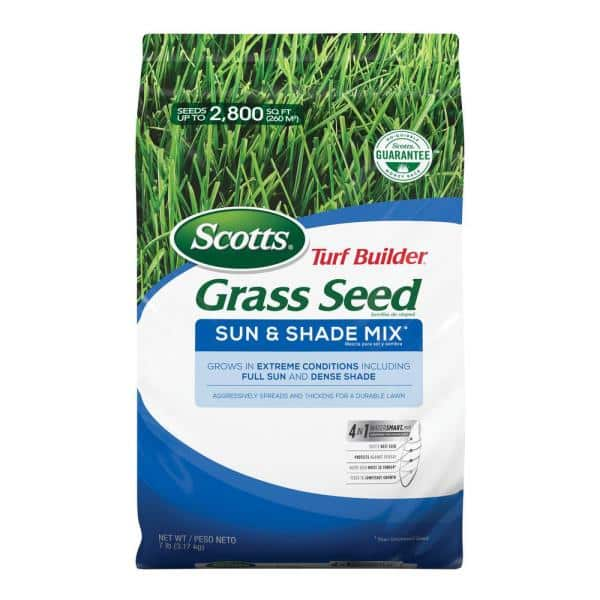 7 lb Bag Free Shipping Sun And Shade Mix Scotts 18221 Turf Builder Grass Seed