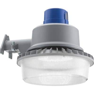 Contractor Select 175-Watt Equivalent Integrated LED Grey Dusk to Dawn Area Light, 5000K