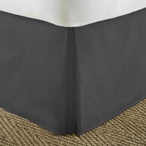 14 in. Black Solid Queen Bed Skirt
