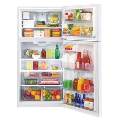 23.8 cu. ft. Top Freezer Refrigerator in Smooth White with Reversible Door