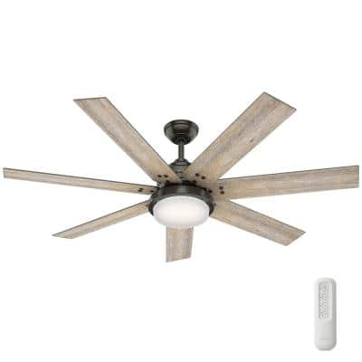 Whittington 60 in. LED Indoor Noble Bronze Ceiling Fan with Light and Remote