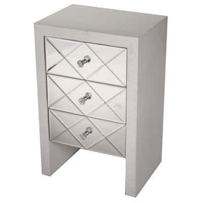 Shelly Antique White Wood Cabinet with a Drawer
