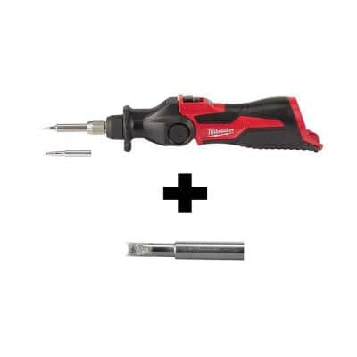 M12 12-Volt Lithium-Ion Cordless Soldering Iron with Soldering Iron Chisel Tip
