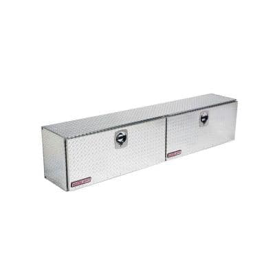 90.25 in. Diamond Plate Aluminum Full Size Top Mount Truck Tool Box
