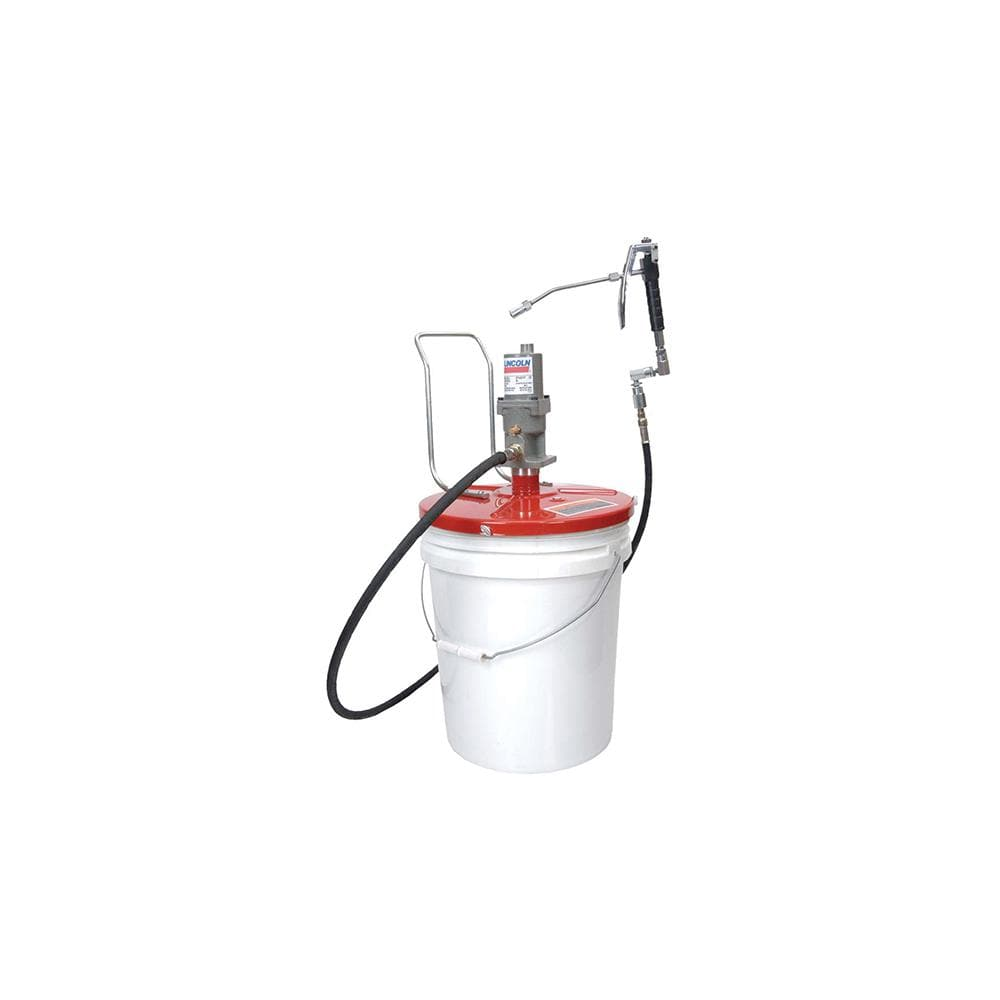 High Pressure Grease Pump Air Operated Pneumatic Gun /& Hose 5 Gallon TOP