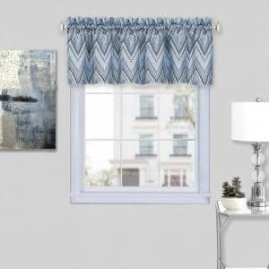 Avery 14 in. L Polyester Window Curtain Valance in Ice Blue