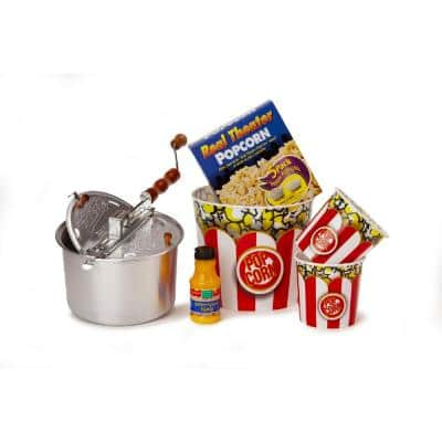 10-Piece Aluminum Popcorn Popper Set