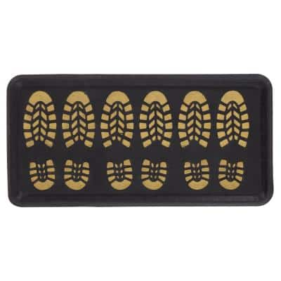 Hudson Gold 16 in. x 32 in. Rectangle Plastic Door Mat
