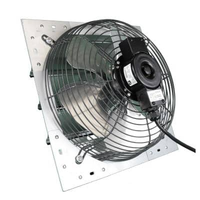 14 in. 325 CFM Shutter Exhaust Fan Wall Mounted