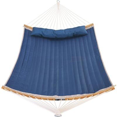 11 ft. Padded Hammock Bed Hammock with Folding Spreader Bar in Dark Blue