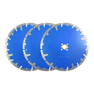 8 in. Professional Turbo Diamond Blade Segmented (3-Piece Pack)