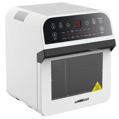 1600 W White Rotisserie Oven and 12.7 Qt. Electric Air Fryer