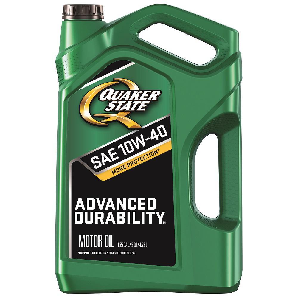 Quaker State Advanced Durability SAE 10W-40 Conventional  Motor Oil - 5 Qt.