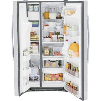 23.0 cu. ft. Side by Side Refrigerator in Fingerprint Resistant Stainless Steel