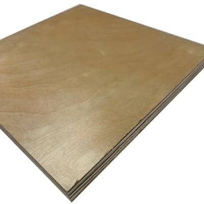 3/4 in. x 2 ft. x 2 ft. UV Prefinished Birch Project Panel