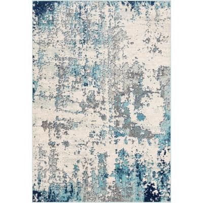 Yamikani Aqua 7 ft. 10 in. x 10 ft. 3 in. Area Rug
