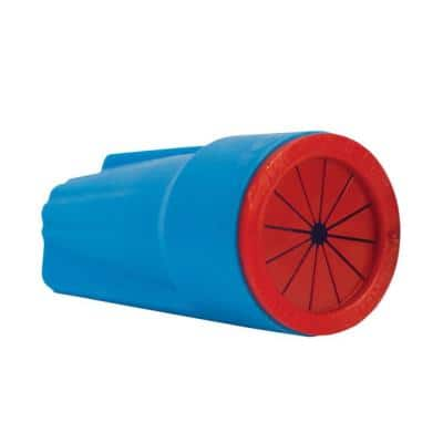 Medium Aqua and Red Waterproof Wire Connectors (100-Pack)