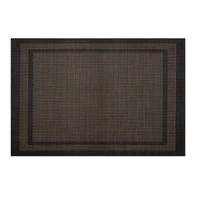 EveryTable Double Border Brown and Bronze Placemat (Set of 12)