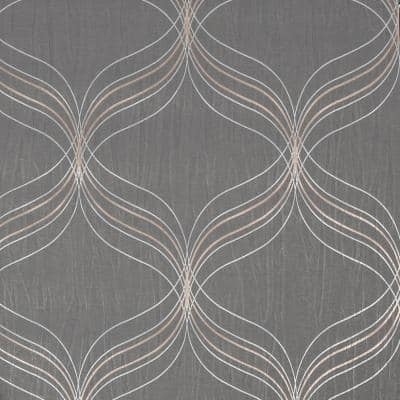 Optical Geo Grey Unpasted Removable Strippable Vinyl Wallpaper