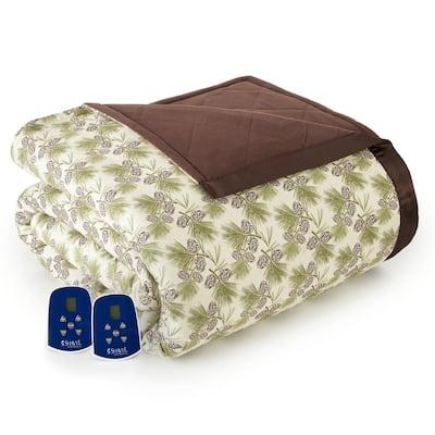 Queen Pinecone Electric Heated Comforter/Blanket
