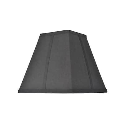 10 in. x 9.5 in. Black Hardback Square Lamp Shade