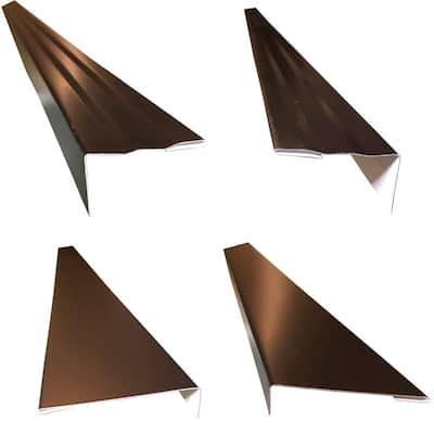 2.5 x 2.25 in. x 85 in. Complete Aluminum Metal Brickmold and Jamb Door Trim Cover Kit - 36 in. Door w/Brick, Black