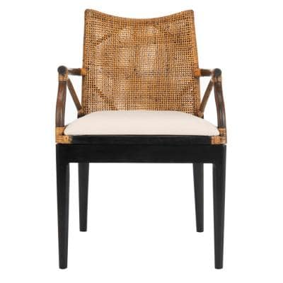 Gianni Brown/White Accent Chair