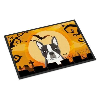 24 in. x 36 in. Indoor/Outdoor Halloween Boston Terrier Door Mat