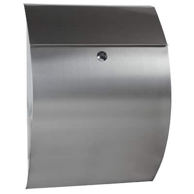 Stainless Steel Contemporary Locking Mailbox