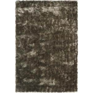 Paris Shag Silver 10 ft. x 14 ft. Solid Area Rug