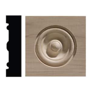 886C 13/16 in. x 3-1/4 in. x 3-1/4 in. White Hardwood Corner Block Moulding