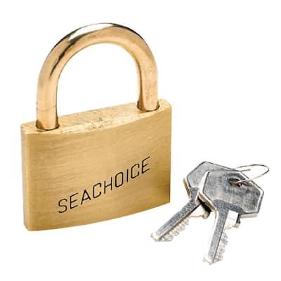 Solid Brass Keyed-Alike Padlocks (3 per Card)