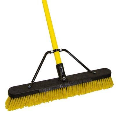 Jobsite 24 in. Multi-Surface Fiberglass Push Broom
